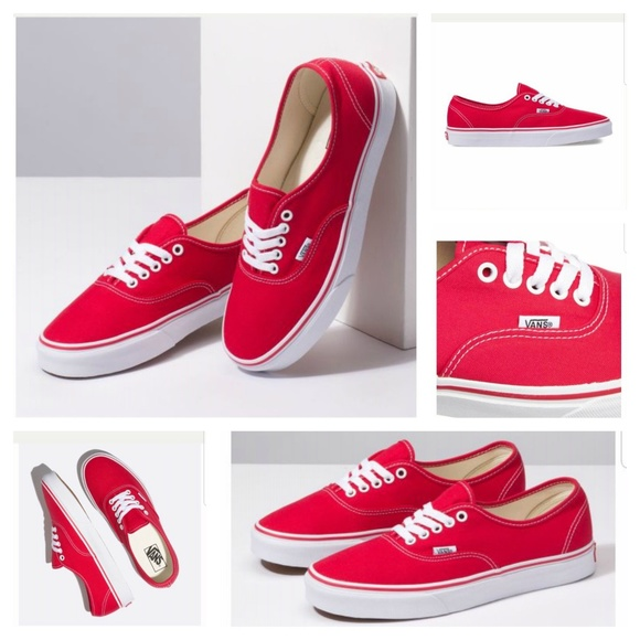 033aa56d01 Vans Authentic Low Top Red Unisex. M 5c67a51d45c8b3e4afaab0c8